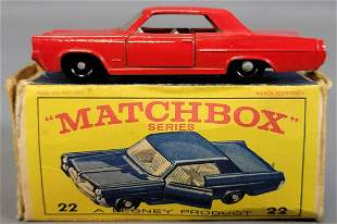 Lesney Matchbox Red #22 Pontiac GP Coupe in original