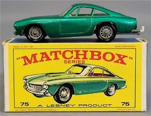 Lesney Matchbox Green #75 Ferrari Berlinetta in