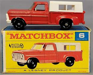 Lesney Matchbox Red #6 Ford Pick-up in original box