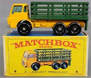 Lesney Matchbox Yellow #4 Stake Truck in original box