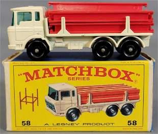 Lesney Matchbox #58 DAF Girder Truck in original box