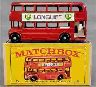Lesney Matchbox Red #5 London Bus in original box