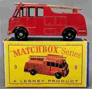 Lesney Matchbox #9 Fire Truck in original box