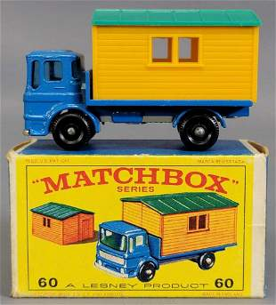 Lesney Matchbox Blue #60 Truck with Site Office in