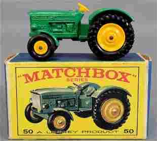 Lesney Matchbox Green #50 Tractor in original box