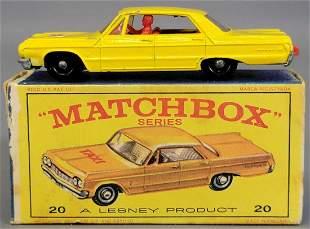 Lesney Matchbox light yellow #20 New Model Taxi-Cab