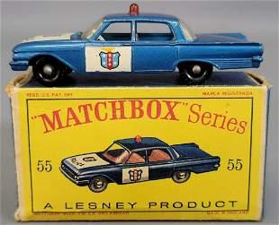 Lesney Matchbox #55 Police Patrol Car in original box