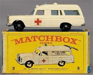 Lesney Matchbox #3 Mercedes-Benz Binz Ambulance in