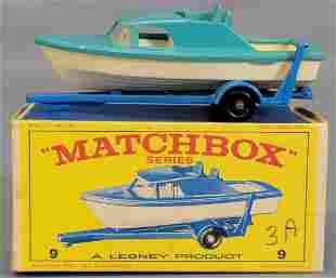 Lesney Matchbox #9 Cabin Cruiser and Trailer in