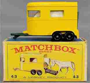 Lesney Matchbox #43 New Model Pony Trailer in original