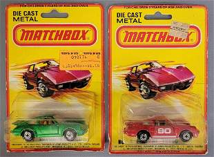 Group of two Lesney Matchbox #3 Turbo Porsche cars on