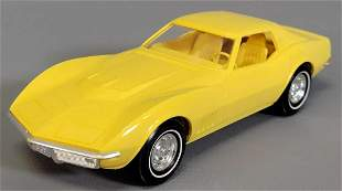 1969 Chevrolet Corvette Coupe Yellow with a Yellow
