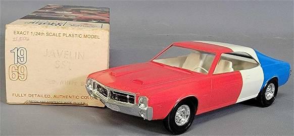 MINT 1969 AMC Javelin SST coaster promo car  in