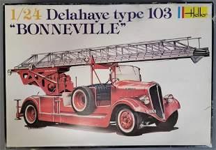 "Mint unbuilt Heller Delahaye type 103 ""Bonneville"" 1:24"