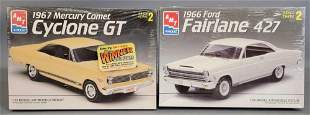 Group of two AMT ERTL Factory sealed 1:25 scale model