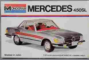 Monogram Mercedes 450SL 1:24 scale model kit 2102 Mint