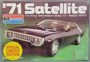 Monogram '71 Plymouth Satellite 1:24 scale model kit