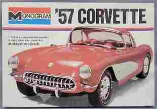 Monogram '57 Corvette 1:24 scale model kit 2227