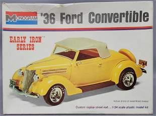 Monogram '36 Ford Convertible 1:24 scale model kit 7570