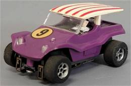 Aurora T-Jet slot car TOUGH Purple body with chassis