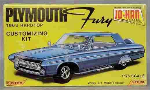Unbuilt Jo-Han 1963 Plymouth Fury hardtop 1/25 scale