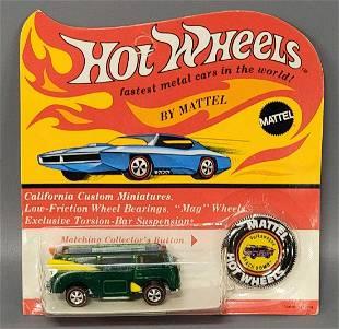 Hot Wheels Redline Green Beach Bomb on Blister Card