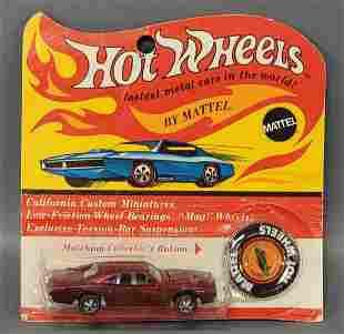 Hot Wheels Redline Red Custom Charger on Blister Card
