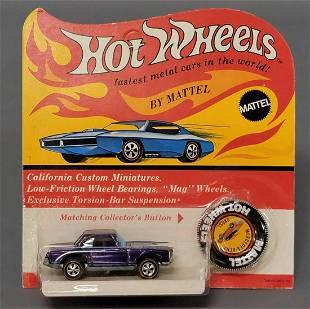 Hot Wheels Redline Purple Mercedes 280SL on Blister