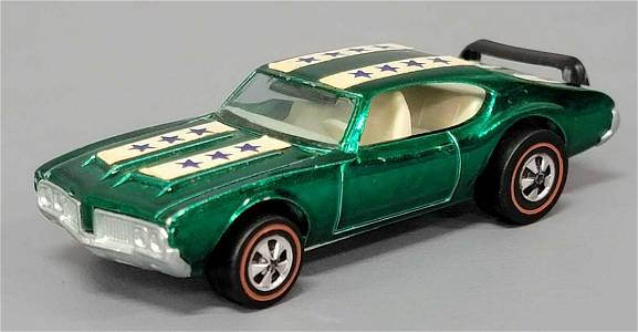 Hot Wheels Redline Emerald Green Olds 442