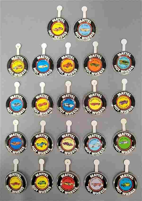 Group of twenty two Hot Wheels Redline Metal Buttons