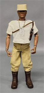 Vintage Hasbro Action Soldier GI Joe Black African R