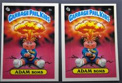 Group of two Topps Garbage Pail Kids Series 1 1985 8a