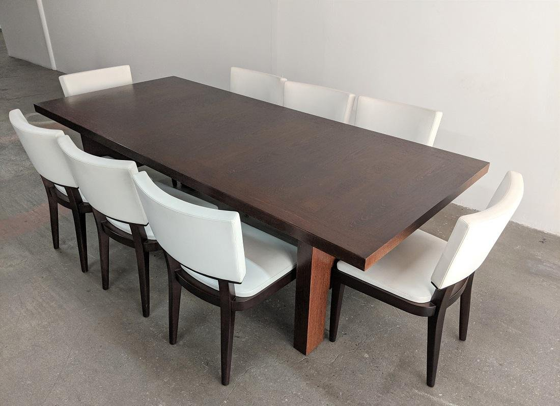 Christian Liaigre Abyss Dining Table + 8 Harvey Chairs