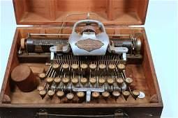 No. 6 Blickensderfer Portable Typewriter in Oak Case