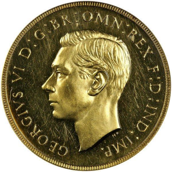 1010: Great Britain: 1937 2 Pounds, PCGS PR-63.