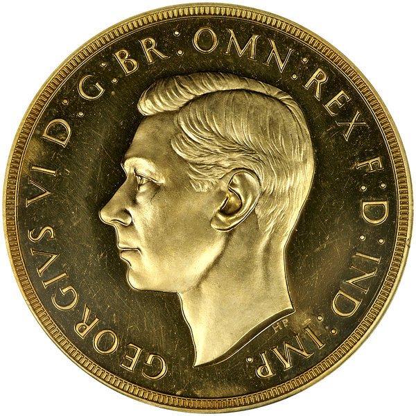 1011: Great Britain: 1937 5 Pounds, PCGS PR-64.