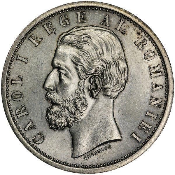 1019: Romania: 1901-B 5 Lei Carol as King KM 17.