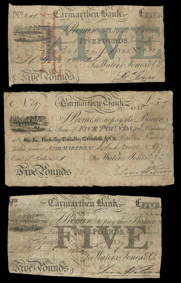1513: Great Britain Carmarthen Bk 5 Pounds