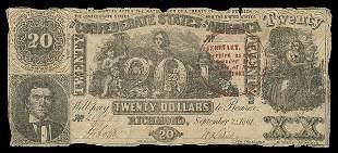 CSA $20. T-20. Cr.141. VG-F