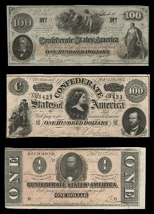 CSA Notes (3) $100 Blacks hoeing cotton +