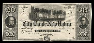 2119: CT City Bank of New Haven. $20 Proof
