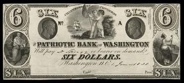2132: DC Patriotic Bank of Washington $6 Proof