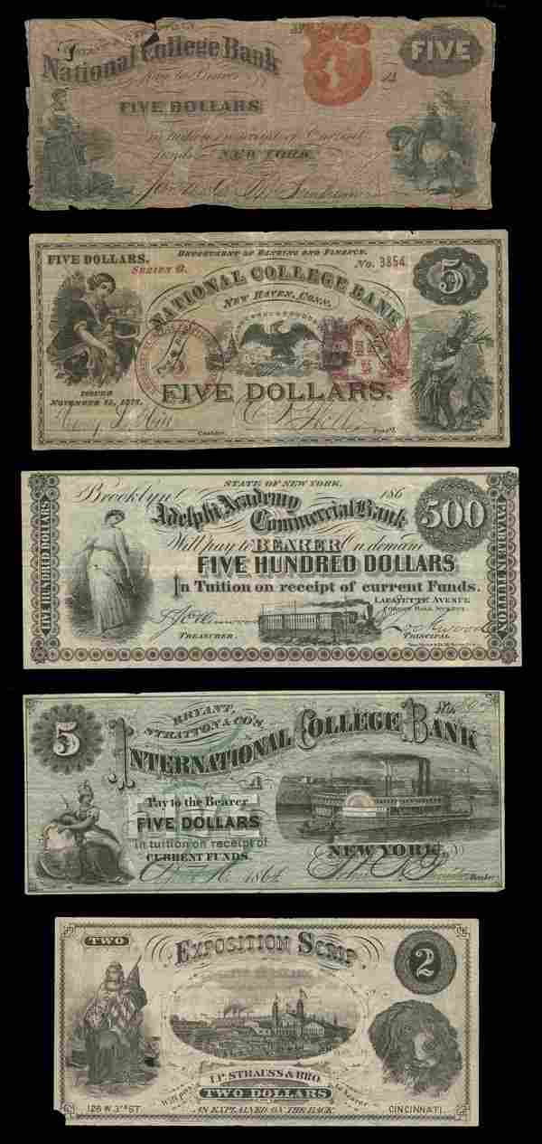 College Currency Notes (5)
