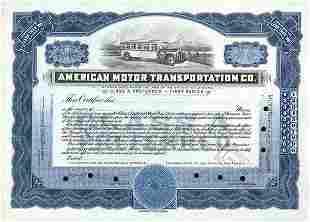 Am. Motor Transport 1930 Stock