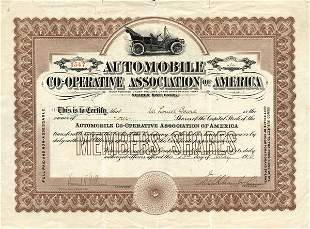Auto Co-Op Assoc. of America Stock