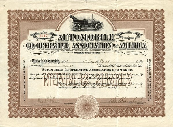 5003: Auto Co-Op Assoc. of America Stock