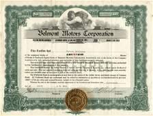 5005: Belmont Motors 1920 Stock Certificate