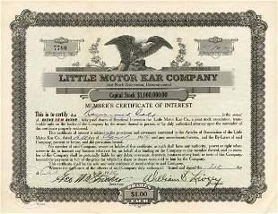 Little Motor Kar 1919 Stock Certificate