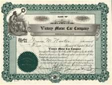 5035: Victory Motor Car 1931 Stock Certificate