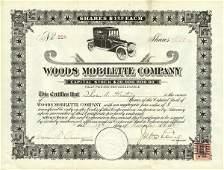 5036: Woods Mobilette 1915 Stock Certificate